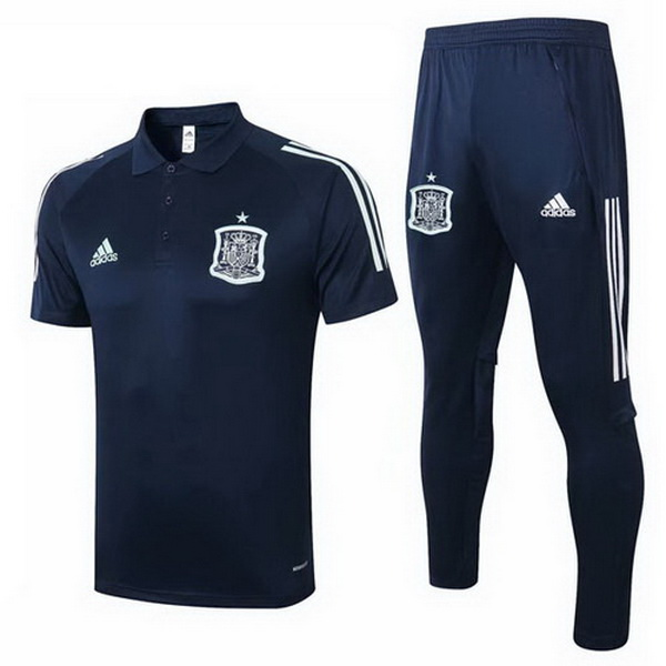 Set Completo Polo Spagna 2020 Blu Navy