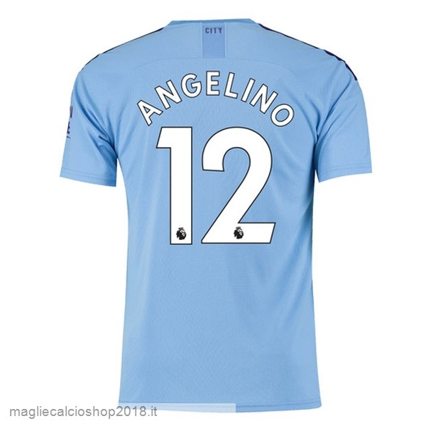NO.12 Angelino 1ª Maglie Calcio Manchester City 2019/20 Blu