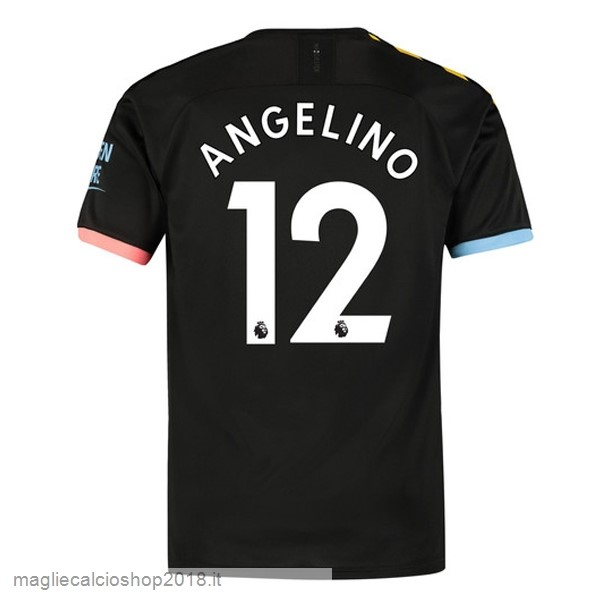 NO.12 Angelino 2ª Maglie Calcio Manchester City 2019/20 Nero