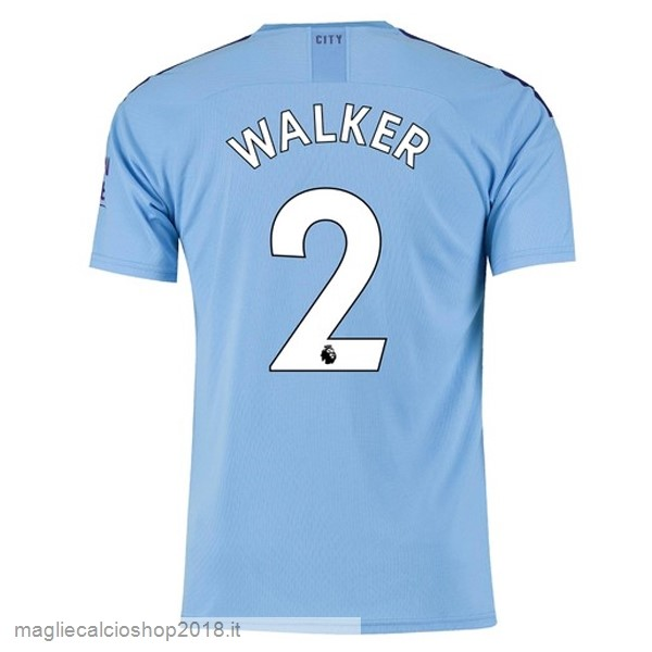 NO.2 Walker 1ª Maglie Calcio Manchester City 2019/20 Blu