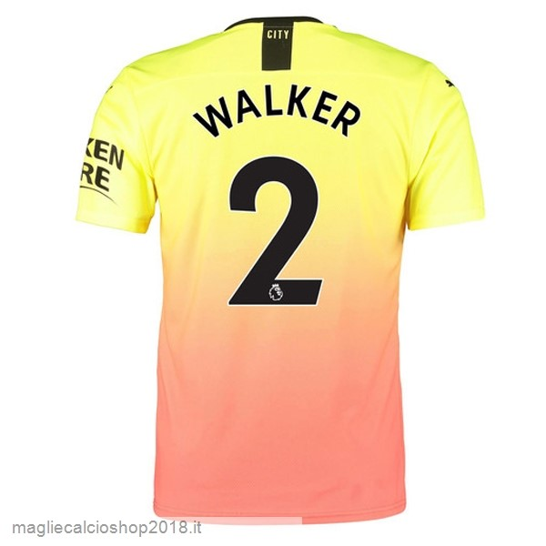 NO.2 Walker 3ª Maglie Calcio Manchester City 2019/20 Oroange