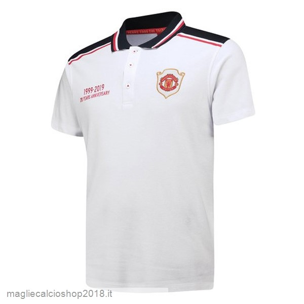 Polo Manchester United 20th Bianco