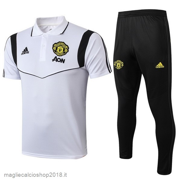 Set Completo Polo Manchester United 2019/20 Bianco Nero
