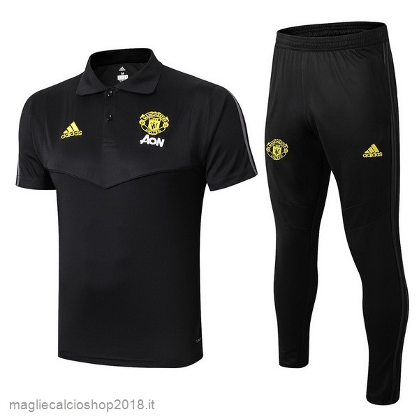 Set Completo Polo Manchester United 2019/20 Nero Giallo