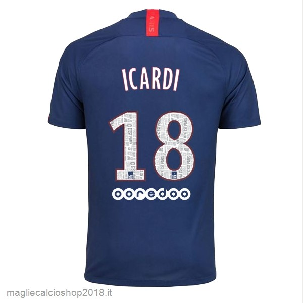 NO.18 Icardi 1ª Maglie Calcio Paris Saint Germain 2019/20 Blu