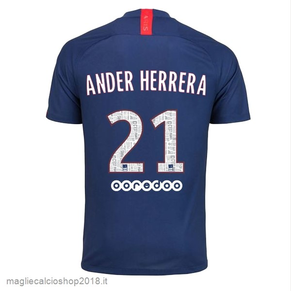 NO.21 Ander Herrera 1ª Maglie Calcio Paris Saint Germain 2019/20 Blu