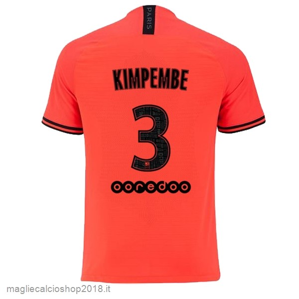 NO.3 Kimpembe 2ª Maglie Calcio Paris Saint Germain 2019/20 Oroange