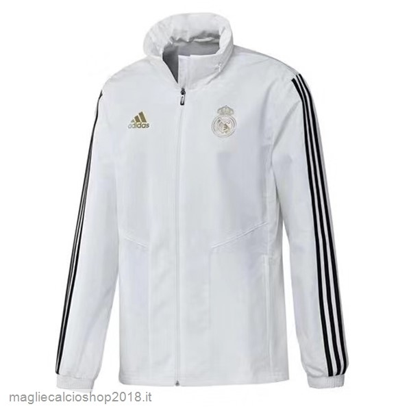 Giacca a vento Real Madrid 2019/20 Bianco Nero
