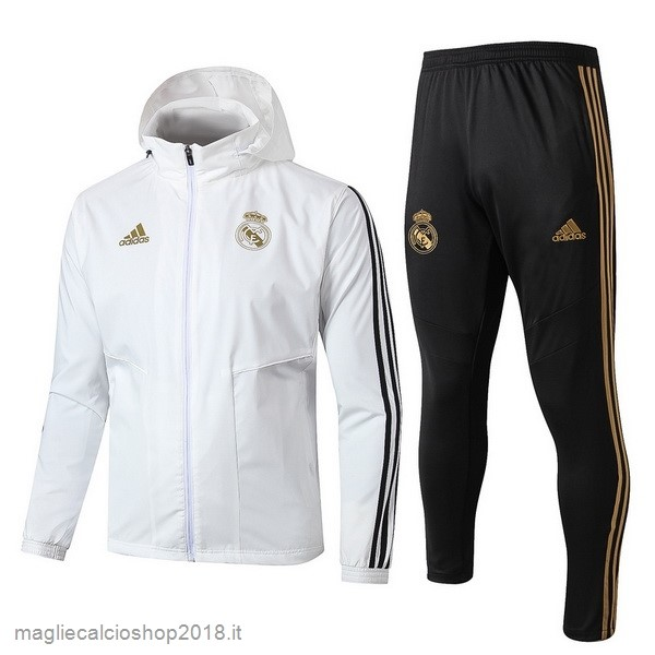 Set Completo Giacca a vento Real Madrid 2019/20 Bianco Nero
