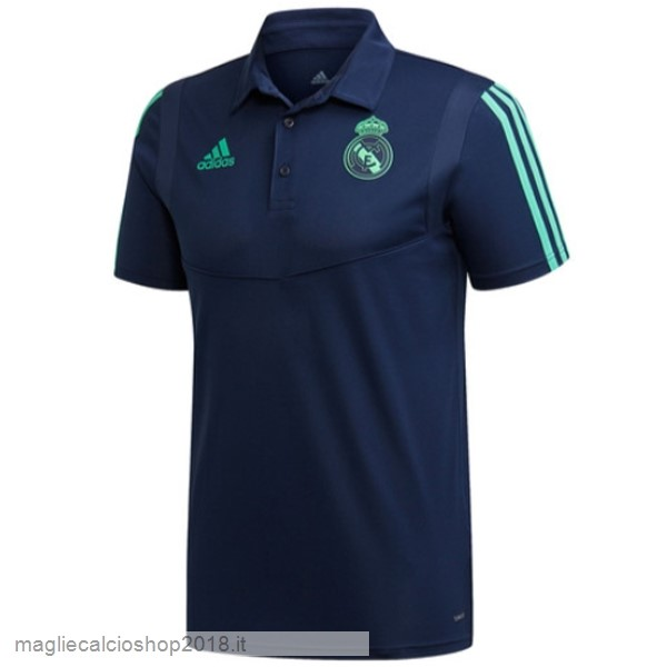 Polo Real Madrid 2019/20 Blu Navy Verde