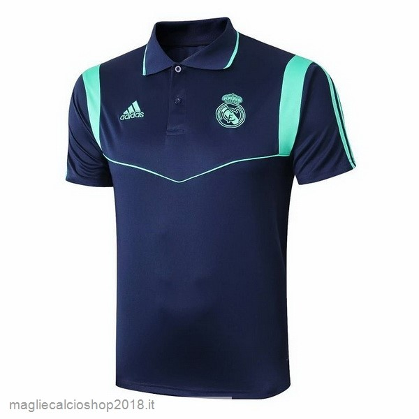 Polo Real Madrid 2019/20 Blu Verde Navy