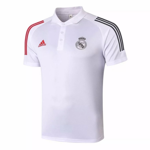 Polo Real Madrid 2020/21 Bianco Rosso