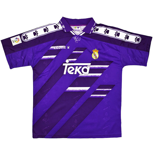 2ª Maglie Calcio Real Madrid Rétro 1994 1996 Purpureo