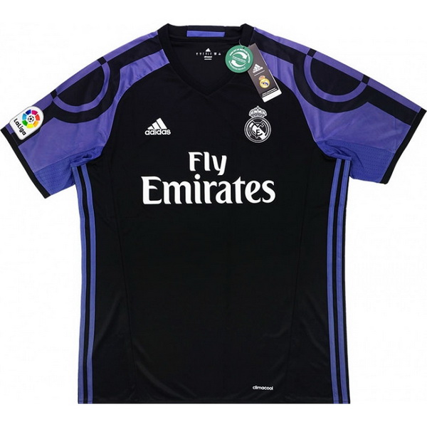 3ª Maglie Calcio Real Madrid Rétro 2016 2017 Nero