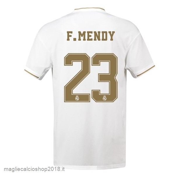 NO.23 F.Mendy 1ª Maglie Calcio Real Madrid 2019/20 Bianco